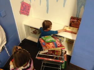 Play food boxes at the Children's Museum of Cleveland.