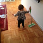 Today's Hint: A Frugal (Play) Sweeper for Your Little Helper