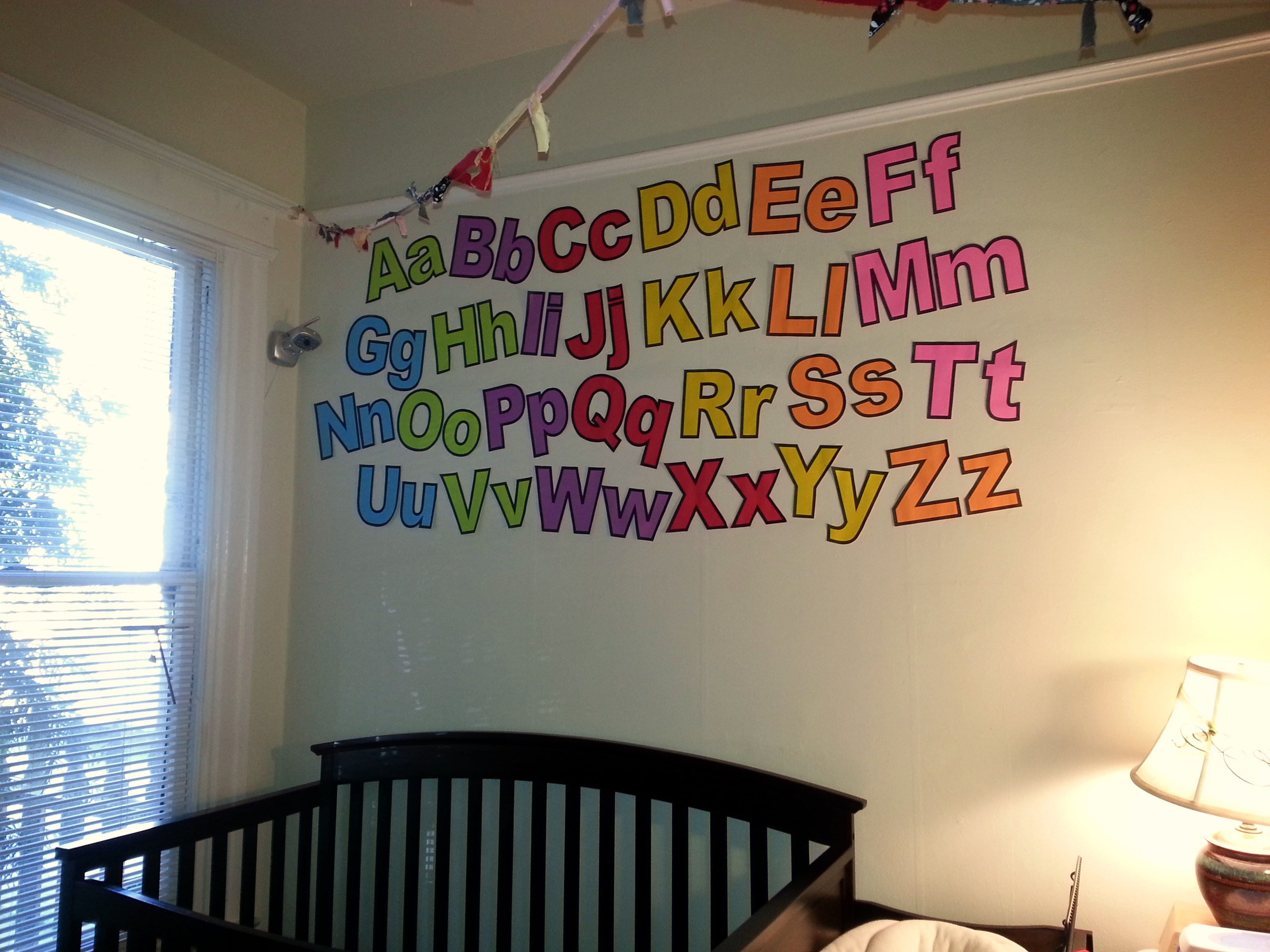Today S Hint Diy Budget Friendly Nursery Wall Letters