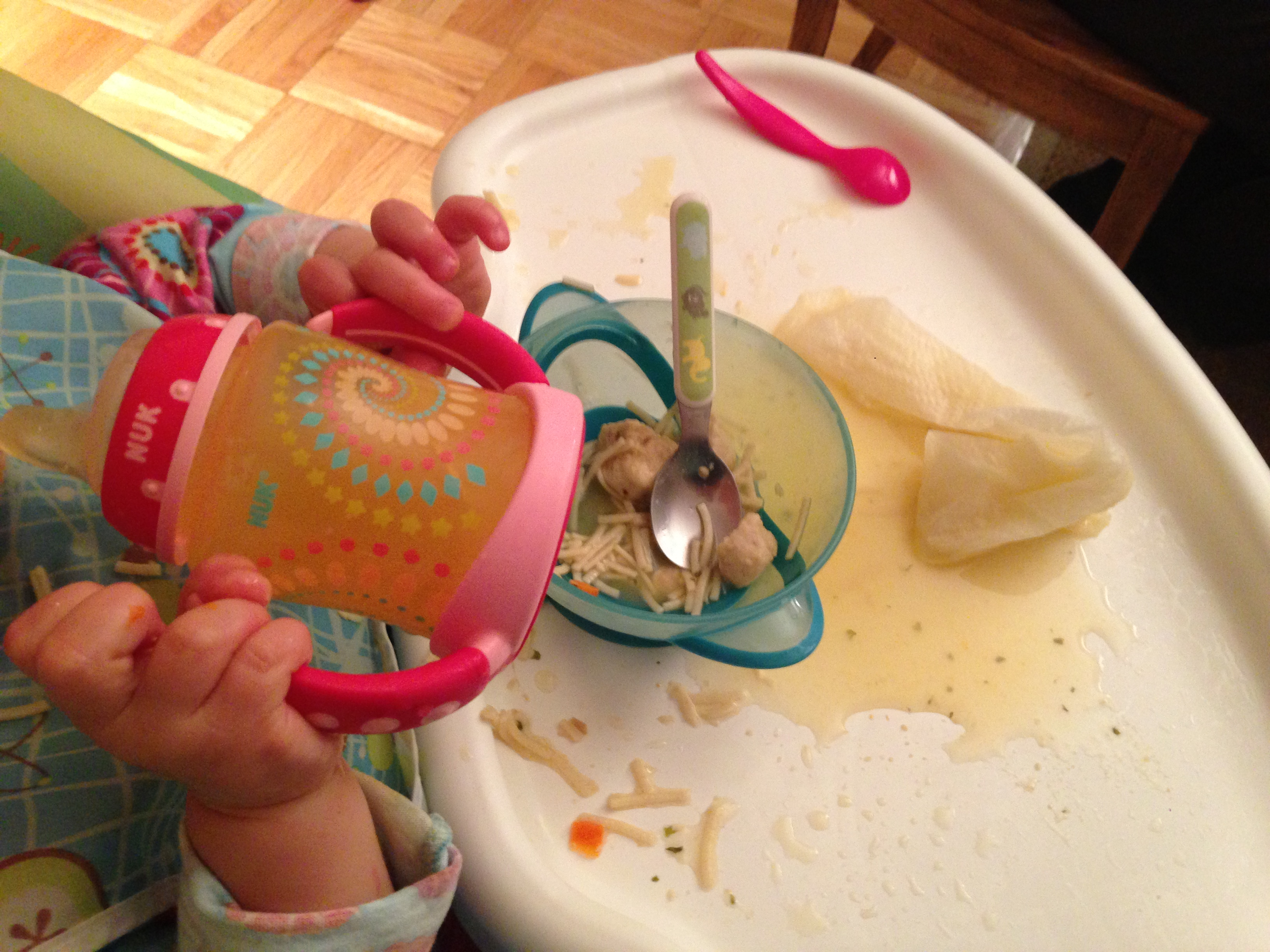 Today's Hint: An Easier Way to Serve Chicken Soup to Messy Eaters