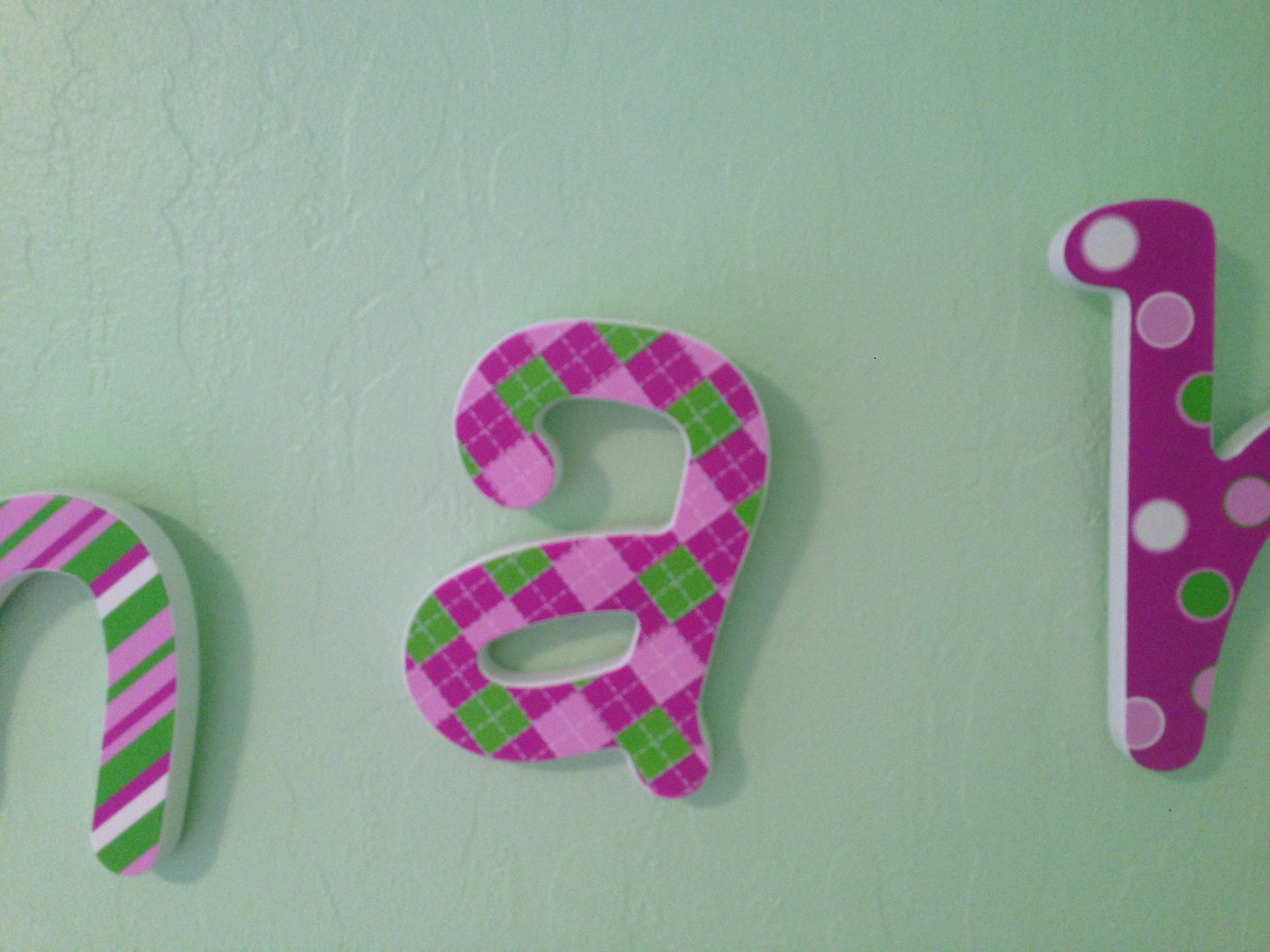 Today's Hint: DIY Budget-Friendly Nursery Wall Letters