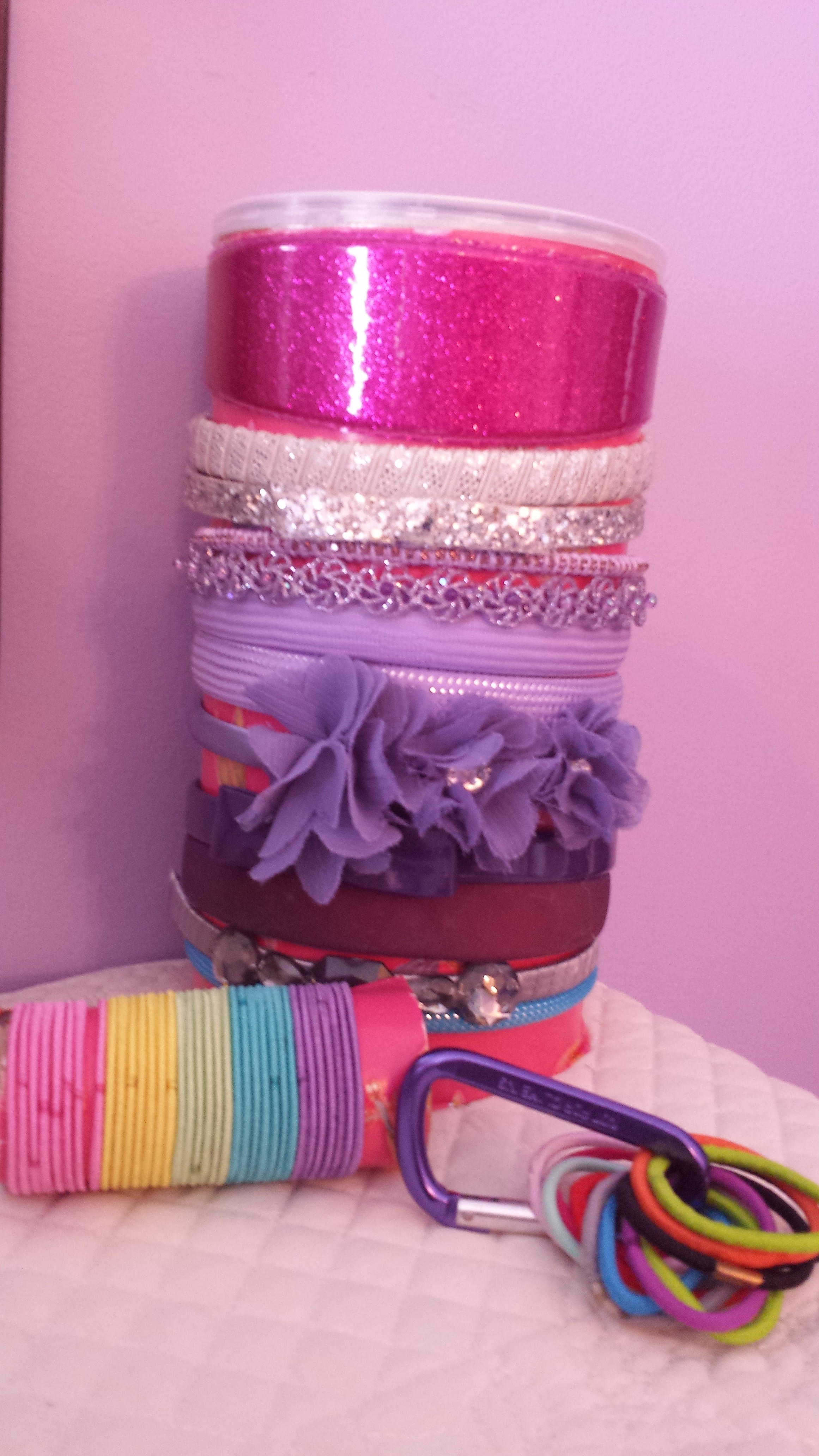 Today s Hint  6 Budget-Friendly Ways to Organize Hair Accessories ... b3daa49a383