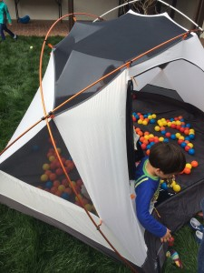 The birthday party DIY ball pit.