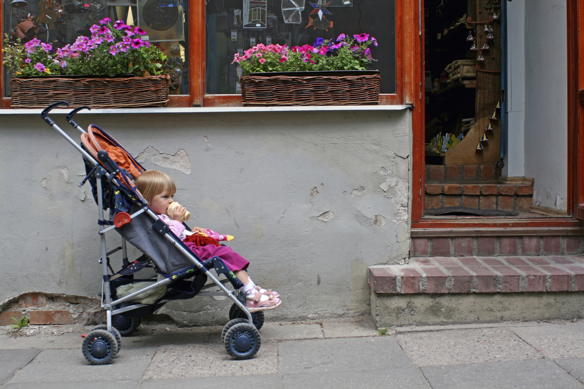Today's Hint: Use Your Stroller as an On-the-Go High Chair