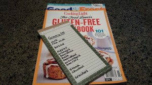 Recipes and grocery list